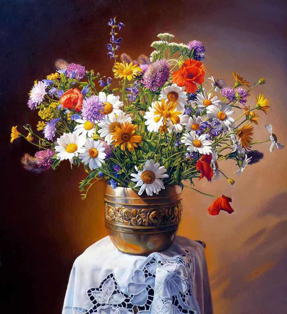 Marianna accerboni for Quadri ad olio con fiori